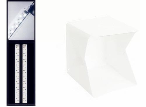 Mini Estúdio Fotográfico 40x40 Cm C/ 2 Barra De 70 Leds