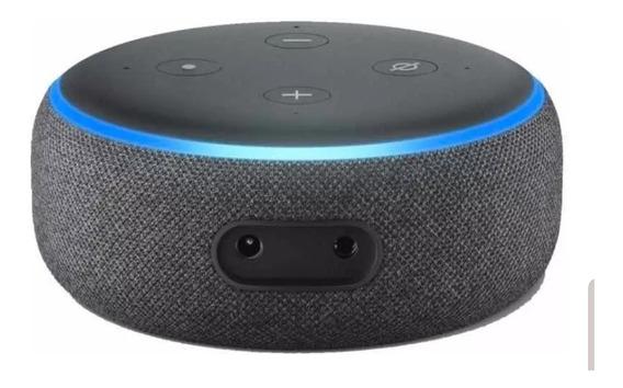 Smart Speaker Amazon Alexa Echo Dot 3 Preto Português Novo