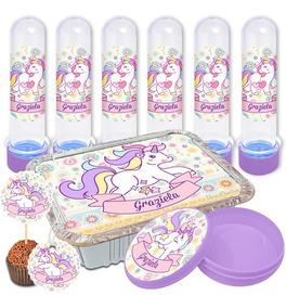 Adesivos Personalizados Lembrancinha 150 Peças Unicornio