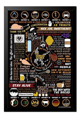 Imagem 1 de 1 de Quadro Poster Jogos Vorazes 33x23cm