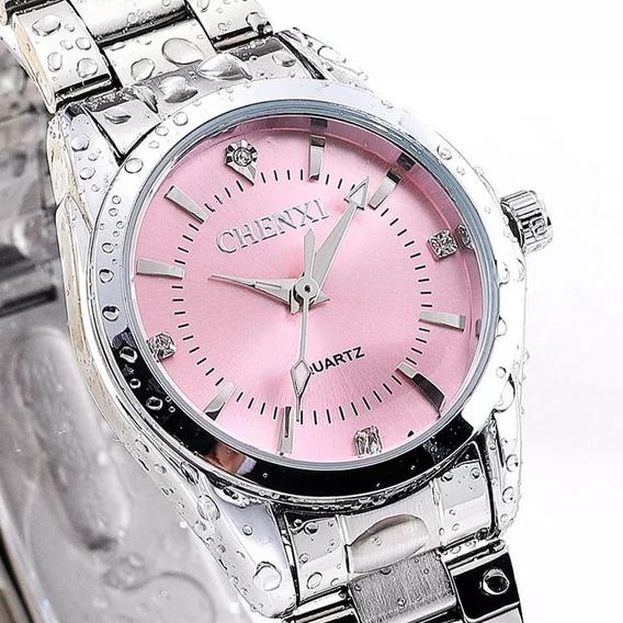 Nuevo Reloj Platinum Little Glow! Contra Agua! Inoxidable!