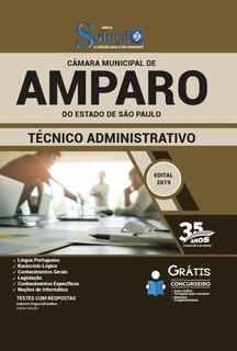 Apostila Câmara Amparo São Paulo Técnico Administrativo