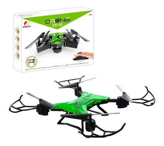 Drone Dobrável Cx 42 Green Max Quadrocopter Wifi