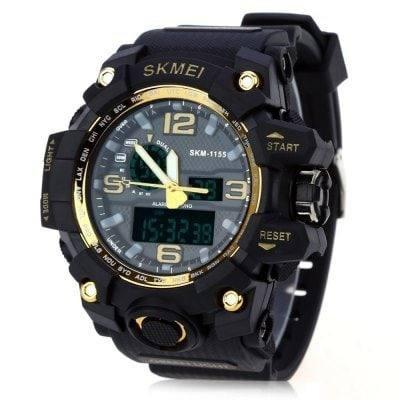 Relógio Esportivo Digital Á Prova D Água Skmei 1155 Dourado