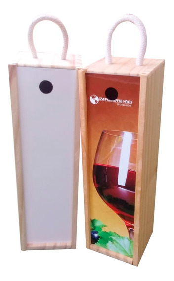 Caja De Vino Simple - Pino