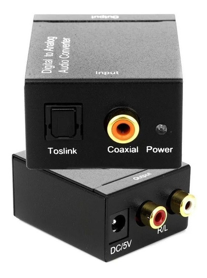 Adaptador Conversor Óptico Toslink E Coaxial S/pdif Para Rca