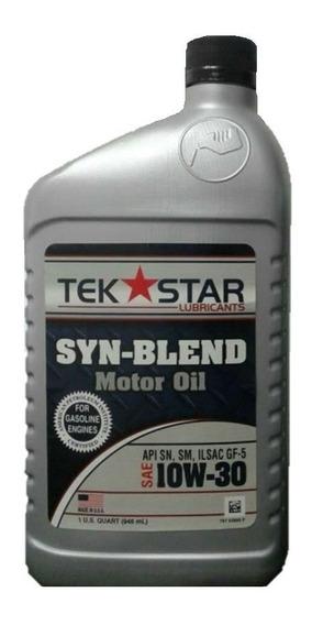 Aceite De Motor 10w 30 Semi Sintético Tekstar Por Litro