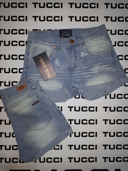 Short Jeans Elastizados Tucci Y Wanama! Talles 36 Al 40!