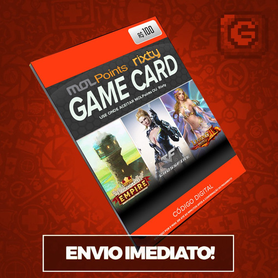 Mol Points Rixty Razer Gold Game Card R$100 Reais