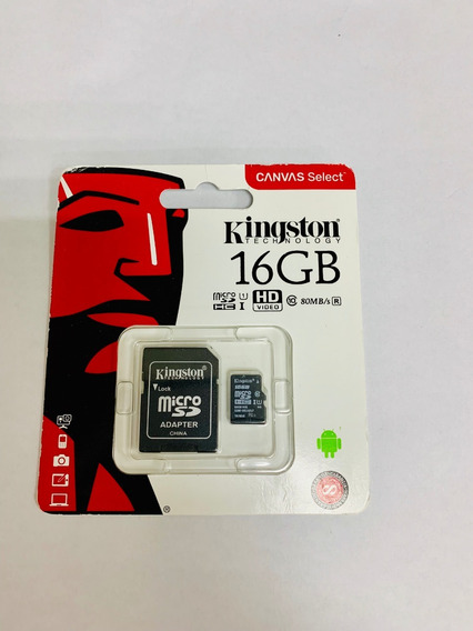 Cartão Memoria Classe 10 16 Gb Kingston Original Lacrado