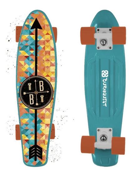 Skate Mini Cruiser Atrio Bob Burnquist Azul - Es093 Es093