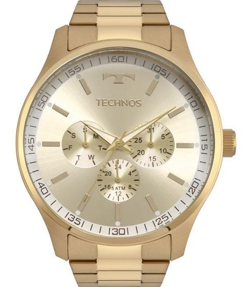 Relógio Technos Masculino Dourado Original Garantia