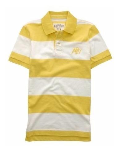 Liq. Aéropostale Polos Color Amarillo-blanco Sale