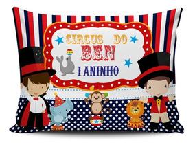 20 Almofada Personalizada Lembrancinha Circo Carocel 20x15cm