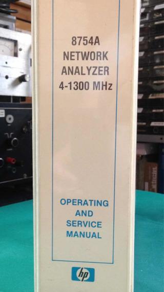 Hp 8754a Operating + Service Manual (impresso/inglês)- Unico