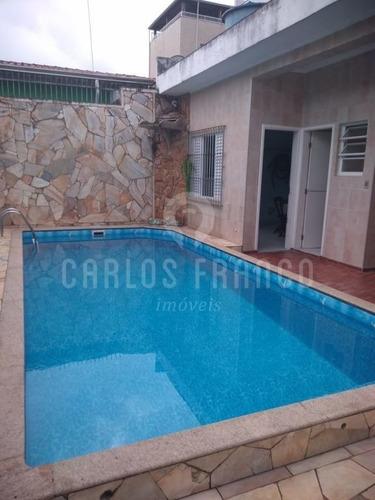Casa Com Piscina Na Vila Mirim A 400 Metros Da Praia  - Cf65368