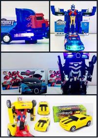 Kit 3 Carros Robôs Transformers