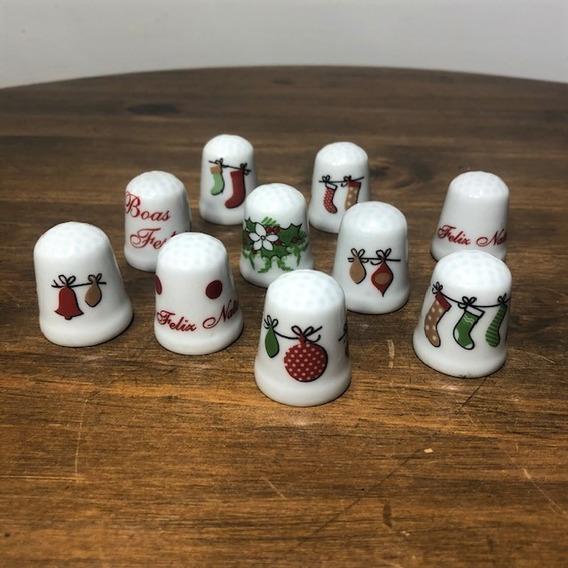 Kit 10 Dedais De Porcelana - Natal
