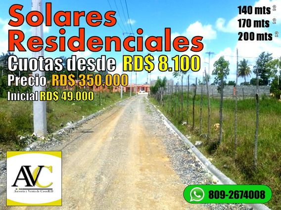 Solares En Santo Domingo Financiamiento Disponible
