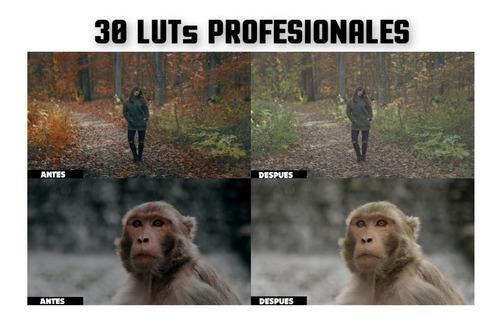 30 Luts Profesionales - Filtros De Video Cinemáticos Premium