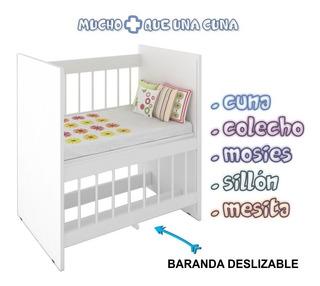 Cuna Colecho 5 En 1 Sillon Y Escritorio La + Elegida Premium