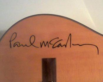 Adesivo Paul Mccartney Assinatura Violão Guitarra Baixo Note