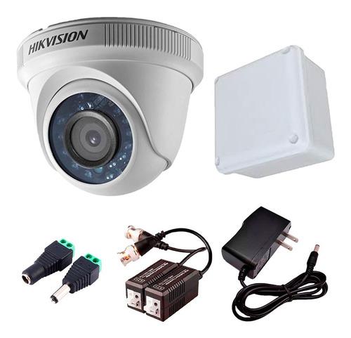 Imagen 1 de 6 de Cámara Domo Hikvision 4 En 1 Turbo Hd 1080p + Accesorios