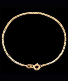 Pulseira Veneziana Em Ouro 18k - 750 - 22.0cm - 0,8grs