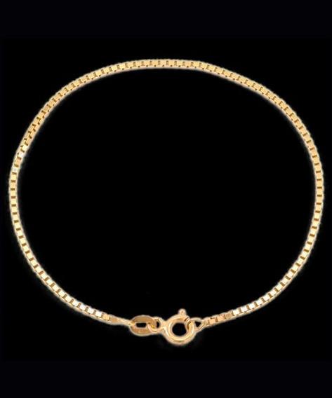 Pulseira Veneziana Em Ouro 18k - 750 - 21.0cm - 0,8grs