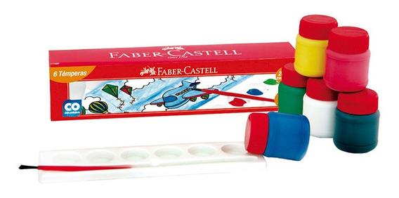 Temperas Faber Castell X 6