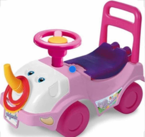 Andador Pata Pata Elefante Rosa De Rondi July Toys