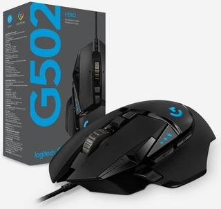 Mouse Logitech G502 Hero Gaming Usb Black