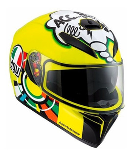 Casco Moto Integral Agv K-3 Sv Misano + Pinlock Deportivo