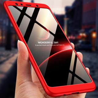 Para Samsung A7 2018 3 Em 1 360 Grau Não -slip À Prova De