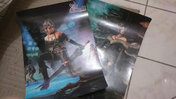 2 Pôsters Raro Final Fantasy X-2 53x38cm Papel Fotográfico