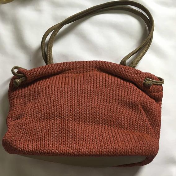 Bolsa Artesanal De Mao Em Croche / Tricot - Linda