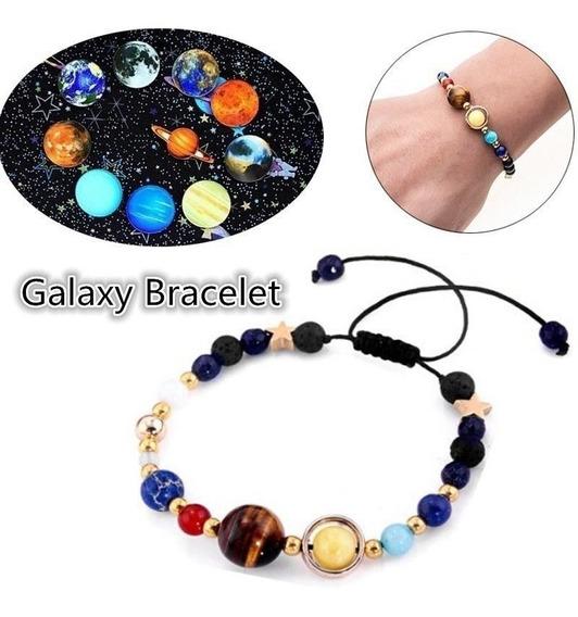 Pulseira Sistema Solar 8 Planetas Galaxia Shambala + Brinde