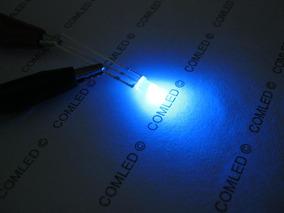 5x Mini Led Bicolor 3mm Difuso Vermelho E Azul Anodo Comum