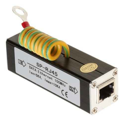 Imagen 1 de 7 de Adaptador Red Rj45 Ethernet Lan Protector Sobretensiones