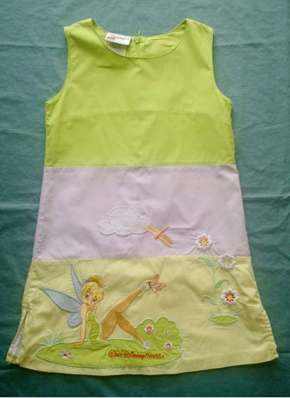 Vestido Para Niña De Campanita Talla S = 6 Disney. Original