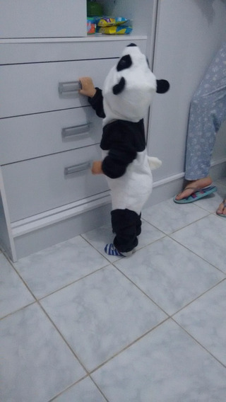 Macacão De Bebê Panda Parmalat Infantil 2 Anos Pijama