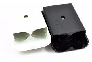 Porta Pila Baterías Control Xbox 360 - Blancas / Negras