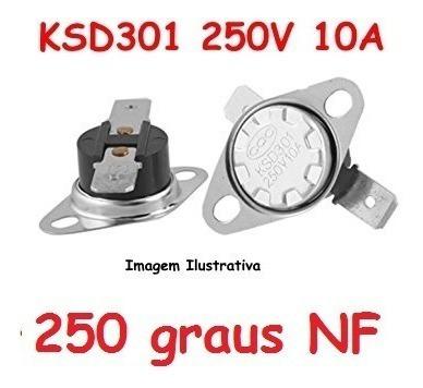 Termostato Ksd301 250 Graus Normal Fechado 10a Cerâmico