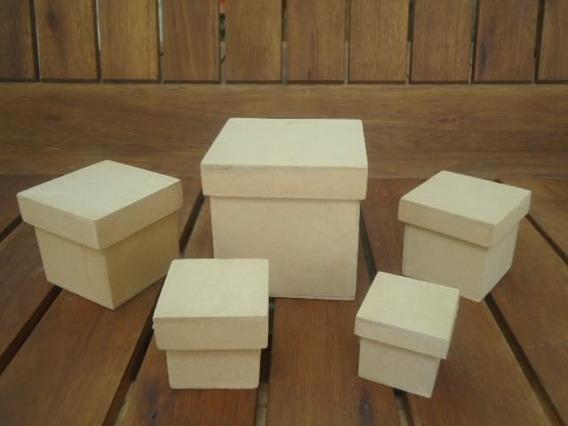 Cajitas 6x6x6 10 Unidades Fibrofacil Souvenirs