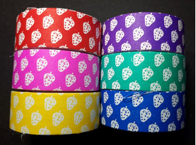 Jg C/6 Washi Tape 5m Fita Adesiva Decorada Colorida Morango