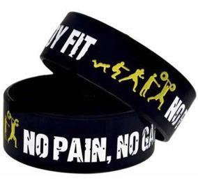 Pulsera Fit No Pain No Gain Negra