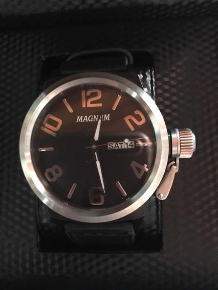 Relógio Magnum Pulseira De Couro