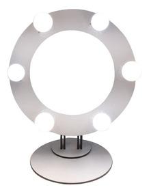 Ring Light Branca Em Mdf 6 Led +suporte Mesa Kit Selfie 0958