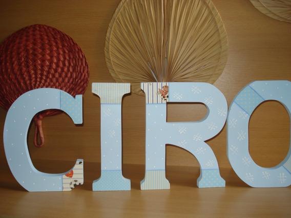 Letras En Fibrofacil Ciro 0, 25 X 0,19 X0,02 Cm