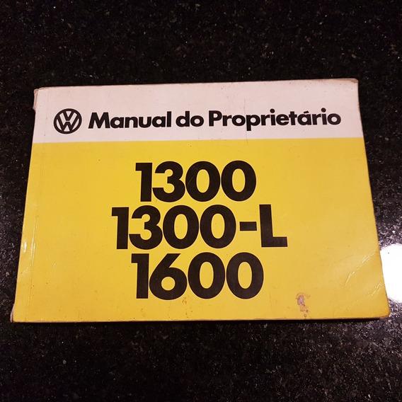 Manual Original Fusca 1300/1300l E 1600 1976